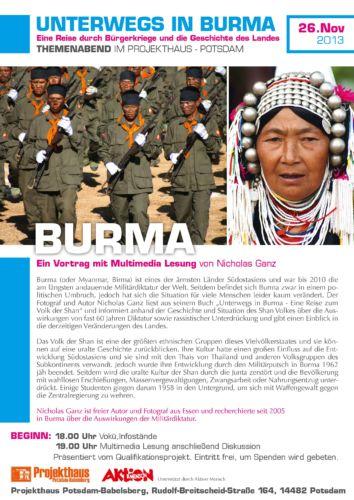 Burma-Abend im Projekthaus Babelsberg
