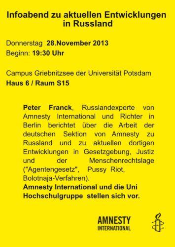 amnesty - Russland